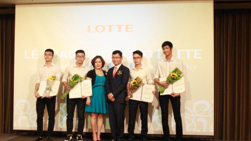 Tập đoàn Lotte trao 50 học bổng cho sinh viên xuất sắc