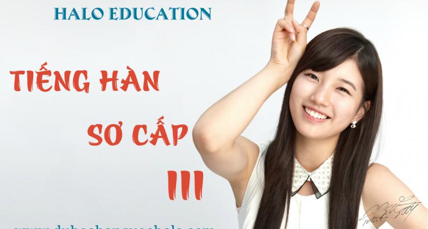 Khóa học Tiếng Hàn sơ cấp 3